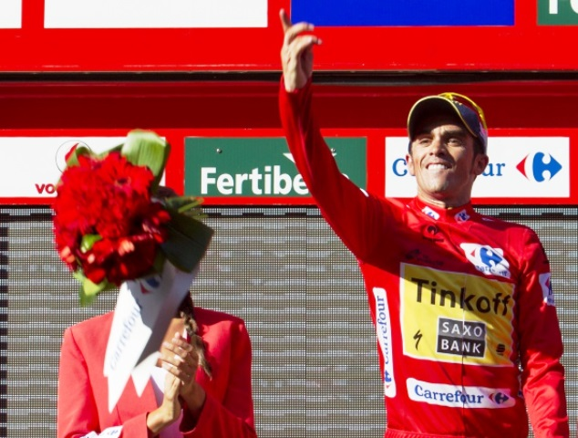 Alberto Contador remains in control of the Vuelta after today's stage ©AFP/Getty Images