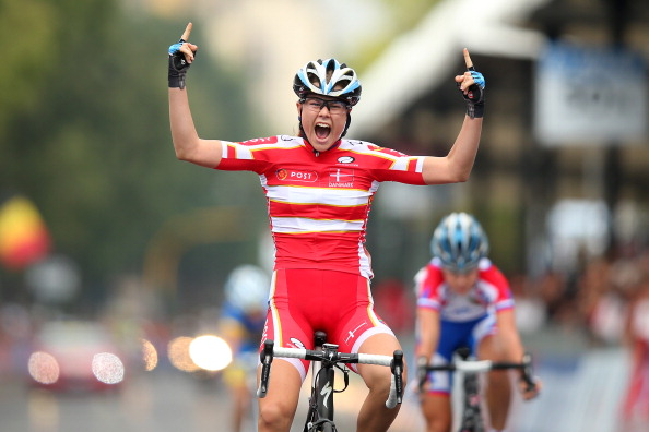 Amalie Dideriksen claimed the junior women's road title in Florence Italy last year ©Getty Images