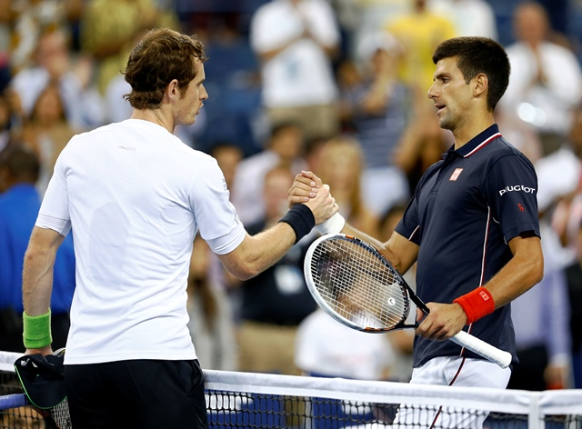 Andy Murray and Novak Djokovic battled for four sets with the Serb eventually emerging victorious ©Getty Images