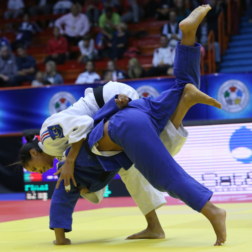 Annabelle Euranie added one of two French golds on the opening day of the Zagreb Grand Prix ©IJF