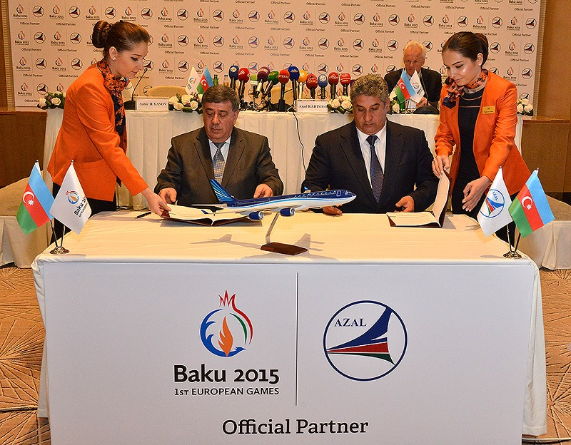 Azerbaijan Airlines becomes the sixth official partner of the Baku 2015 European Games ©Baku 2015