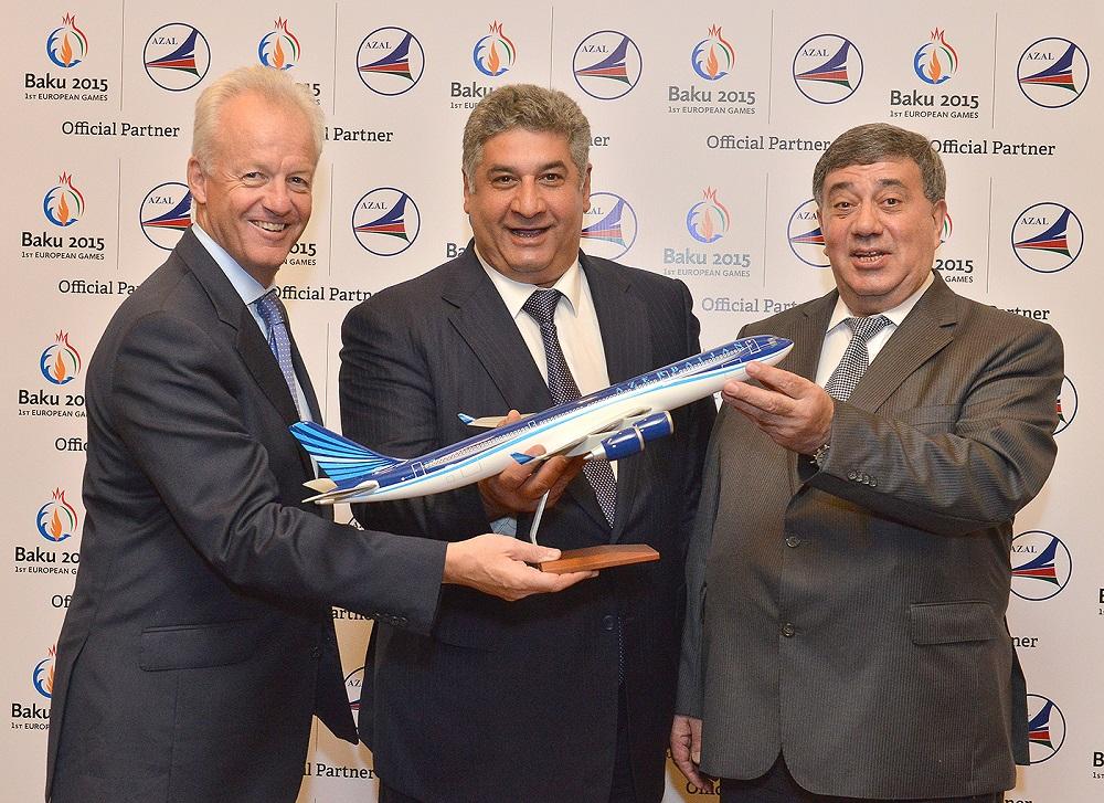 Azerbaijan Airlines has signed as an official sponsor of the Baku 2015 European Games ©Baku 2015