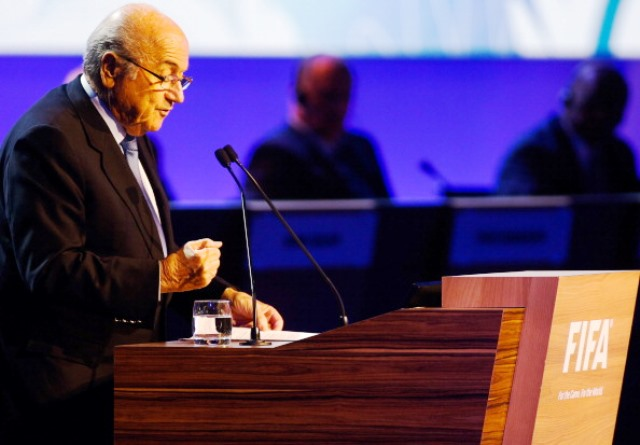 Blatter came in for fierce criticism from UEFA delegates at the FIFA Congress in São Paulo in June ©Getty Images