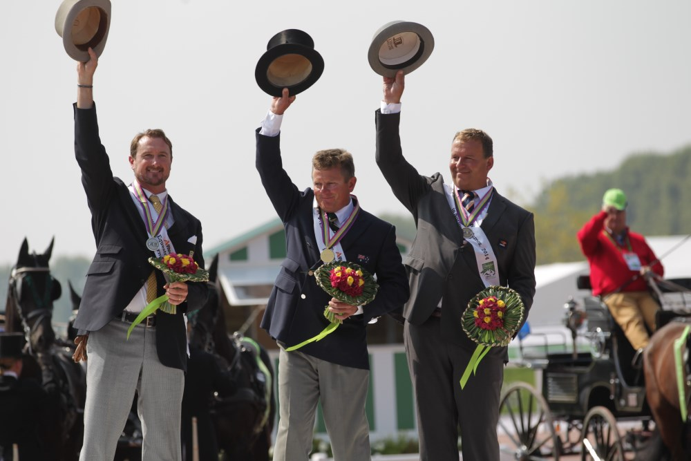 Boyd Exell takes gold in the driving competition as Dutch claim double delight on final day of World Equestrian Games ©Marie de Ronde-Oudemans/FEI