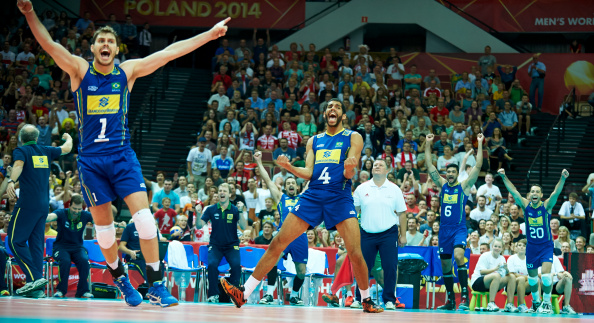 Brazil are one of three teams to book a spot in the third round of the Volleyball World Championships in Poland ©Getty Images