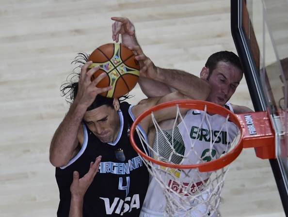 Brazil defeated Argentina for the first time since 1967 at basketball's flagship tournament to secure their place in the quarterfinals ©Getty Images