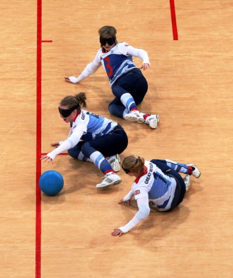 Bullen (centre) was part of the British team that got to the quarter-finals at London 2012 ©Getty Images
