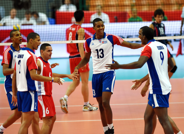 Cuba finally have a win under their belt after beating South Korea 3-1 ©Getty Images for FIVB