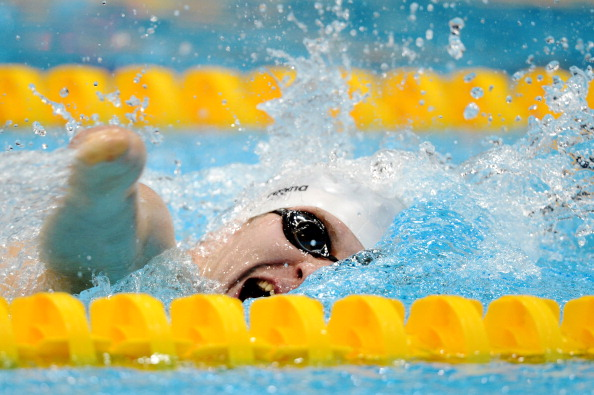Darragh McDonald won one of two gold medals for Ireland in the pool at the London 2012 Paralympics ©Getty Images
