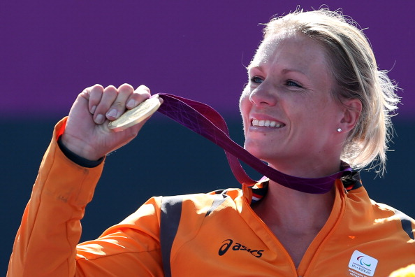 Esther Vergeer won seven Paralympic gold medals and 42 Grand Slam titles in a glittering career ©Getty Images