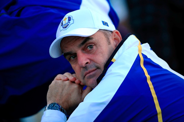 Europe captain Paul McGinley has seen his side come from behind to lead 5-3 after the first day of the Ryder Cup ©Getty Images