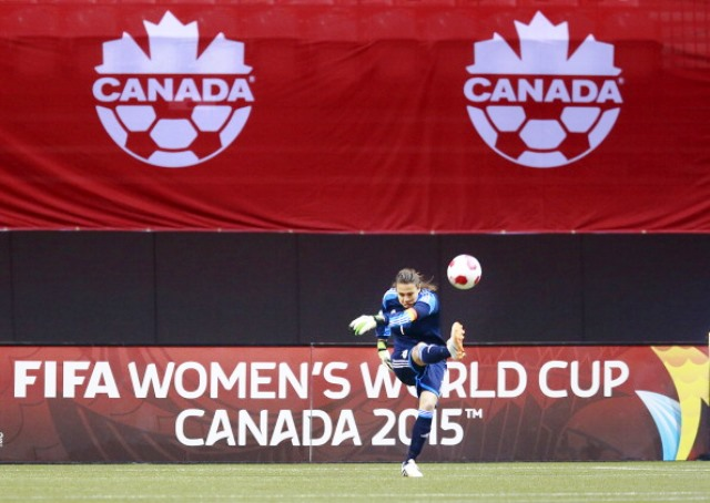 FIFA Women's World Cup organisers are facing a lawsuit over the use of artificial turf at Canada 2015 ©Getty Images