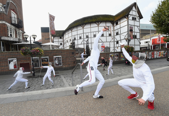 Britain took on Germany in Beazley International Fencing Challenge match at The Globe Theatre in London ©Getty Images