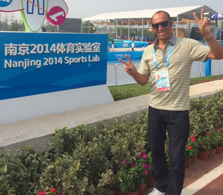 International Surfing Association President Fernando Aguerre, pictured at the Sports Lab in Nanjing, has painted an optimistic picture about the future of his sport ©ISA