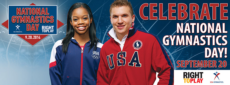 Gabby Douglas and Jonathan Horton will lead the United States' National Gymnastics Day celebrations ©USA Gymnastics/Facebook