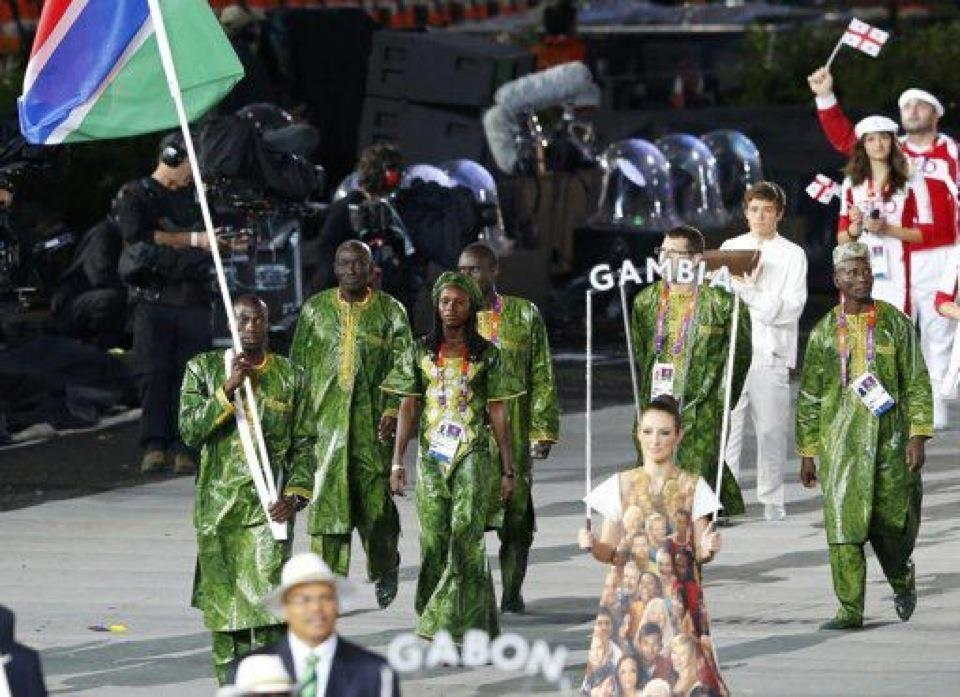 Gambia, seen here at the Opening Ceremony of London 2012, are facing suspension from the International Olympic Committee because of Government interference ©Getty Images