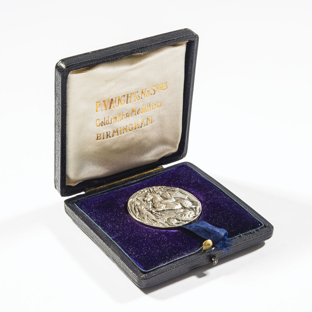 Henry Leaf's London 1908 silver medal is up for auction ©RR Auction