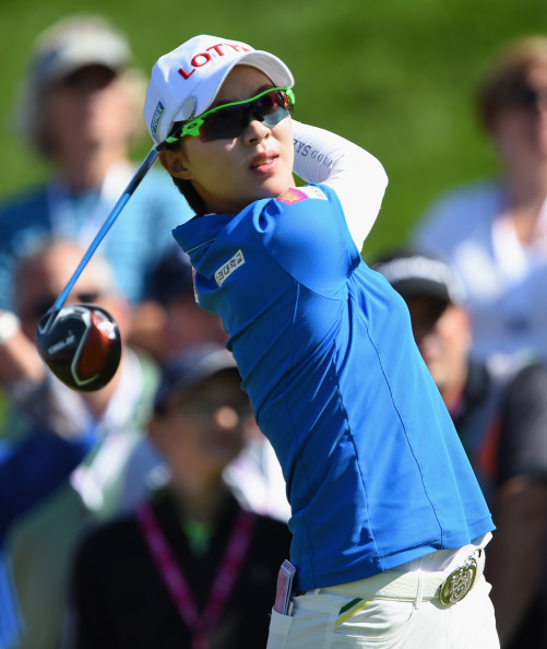 South Korea's Hyo-Joo Kim leads the Evian Championship going into tomorrow's final round ©Getty Images