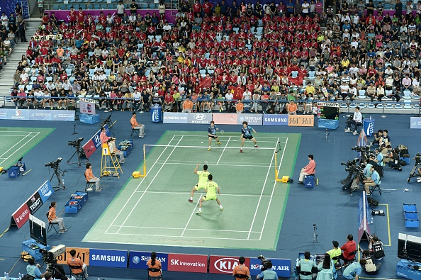 A pulsating team final in badminton ©AFP/Getty Images