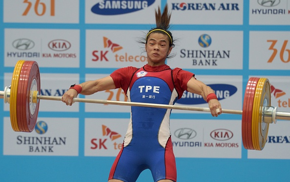 A world record breaking weightlifting victory for Hsu Shu Ching ©AFP/Getty Images