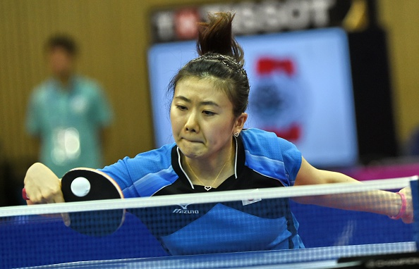 Ai Fukuhara records an impressive opening match victory against China's Ding Ning in the women's team table tennis final ©AFP/Getty Images