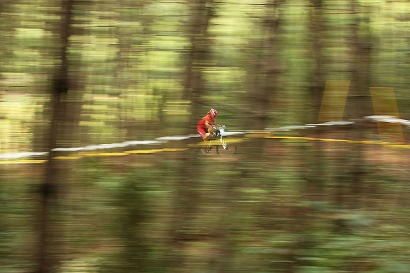 An action shot from the cross country mountain biking ©Getty Images