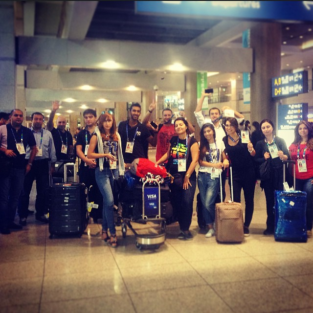 Baku's delegation arrive in Incheon to attend the Games Experience Programme ©Baku 2015