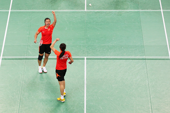 China celebrate en route to the mixed team badminton title ©Getty Images