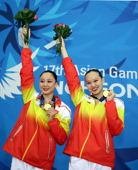 China celebrate synchronised swimming gold ©Getty Images