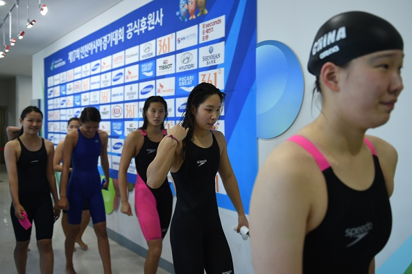 There was Chinese disappointment in the heats of the 4x100m medley relay, but not in much else ©AFP/Getty Images