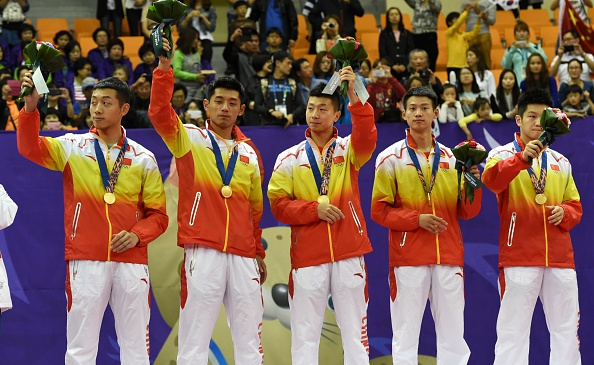China were utterly dominant in taking double gold in table tennis ©AFP/Getty Images