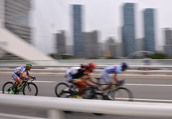 Cyclists competing during the road race ©AFP/Getty Images