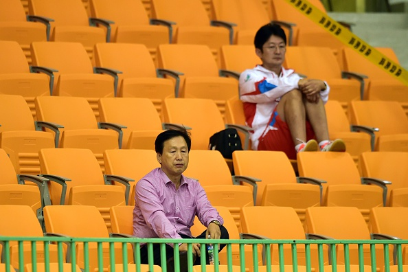 Empty seats on the first day of table tennis action ©AFP/Getty Images
