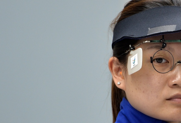 Guo Wenjun was part of China's team that won the women's 10m air pistol team shooting, the first gold medal of the 2014 Asian Games ©Getty Images