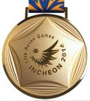 Incheon 2014 gold medal