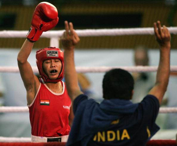 Indian boxer Sarita Devi was left in tears today after judges ruled she had lost a match that she reportedly dominated ©Getty Images