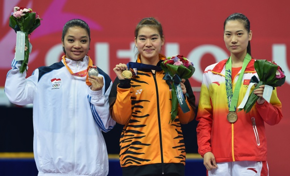 Indonesia's silver medalist Juwita Niza Wa                 </div>                                      <!-- The Gallery as lightbox dialog, should be a child element of the document body --> <div class=
