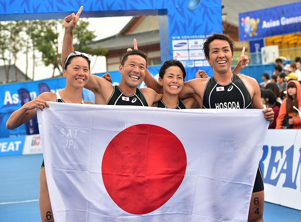Japan added mixed relay to male and female individual honours in triathlon ©AFP/Getty Images
