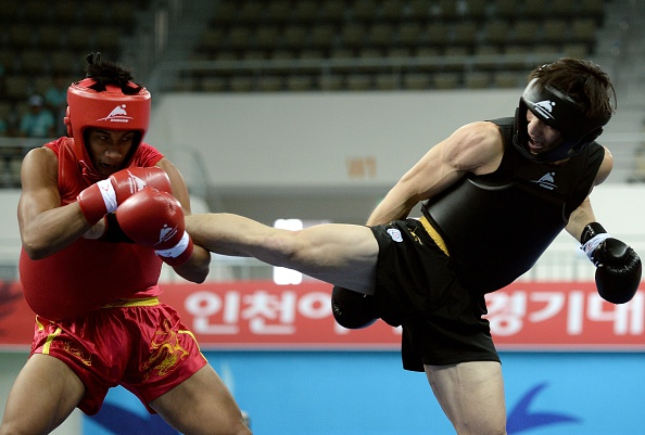Kong Hongxin en route to wushu gold for China ©AFP/Getty Images
