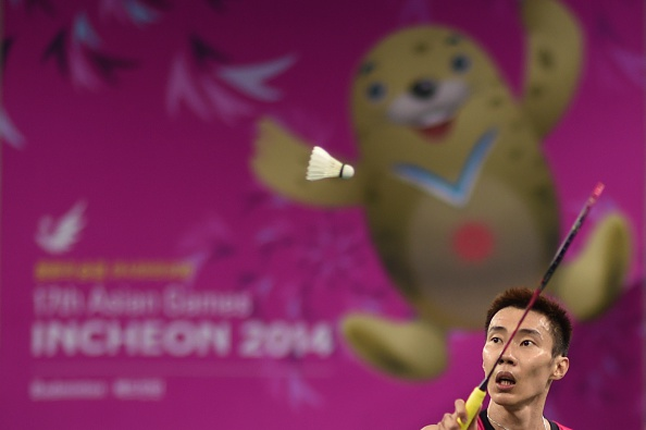 Lee Chong Wei of Malaysia in badminton action ©AFP/Getty Images