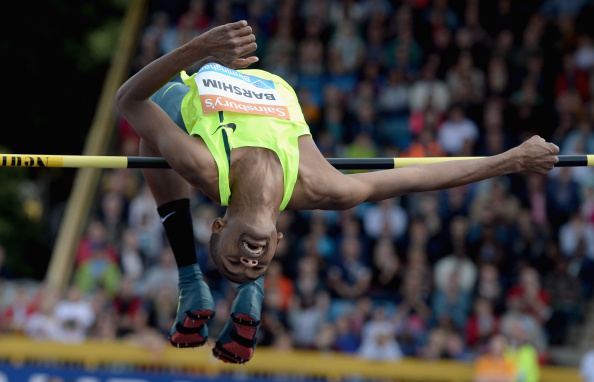 Mutaz Essa Barshim competing at the Birmingham leg of the Diamond League earlier this summer ©Getty Images