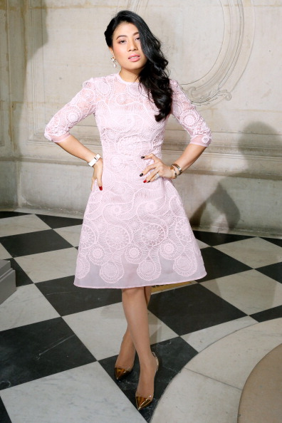 Princess Sirivannavari Nariratana seen here attending Paris Fashion Week earlier this year will be competing in dressage for Thailand at Incheon 2014 ©Getty Images