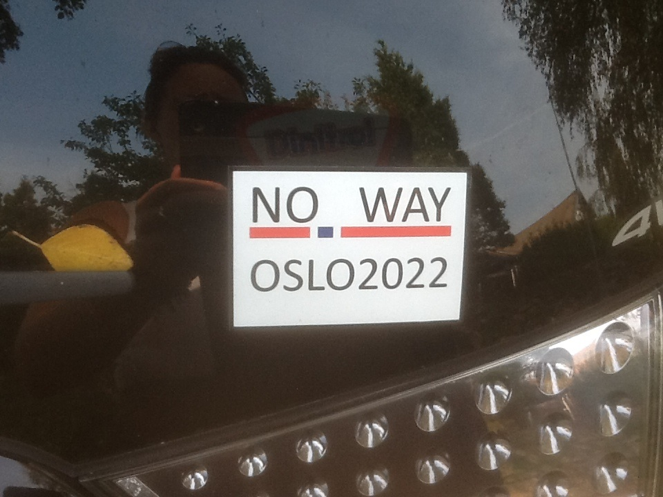 Protests against Oslo's bid for the 2022 Winter Olympics and Paralympics have taken place today ©Facebook