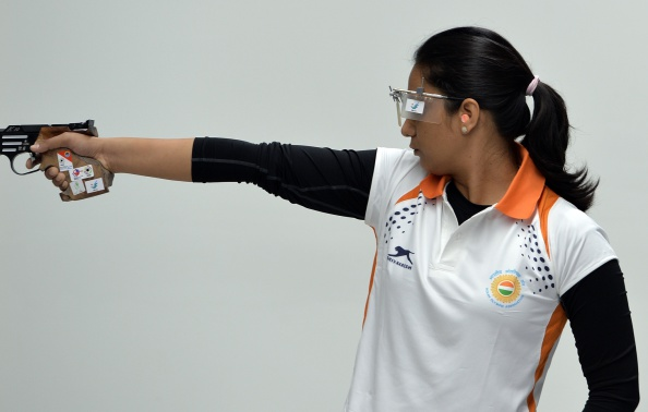 Shweta Chaudhary had won a shooting medal for India ©AFP/Getty Images