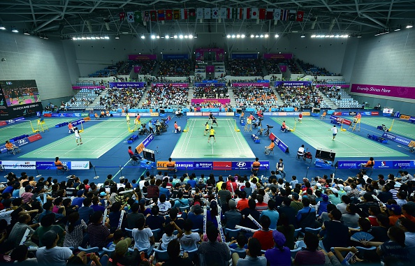 There have been complaints over the air conditioning system used in the Gyeyang Gymnasium ©AFP/Getty Images
