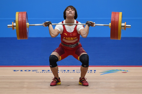 Xiang Yanmei en route to weightlifting gold ©AFP/Getty Images