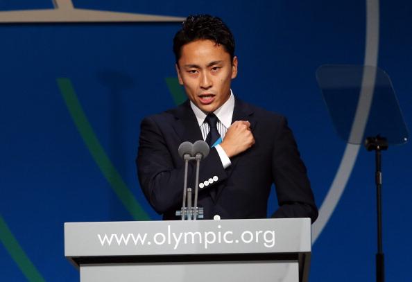 Yuki Ota addressing the IOC ©Getty Images
