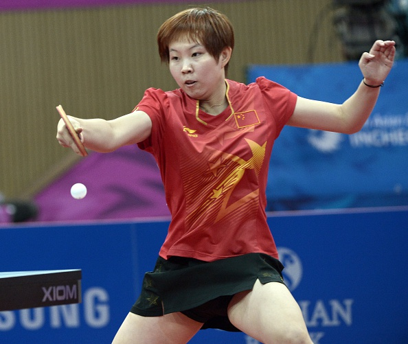Zhu Yuling sweeps past Miu Hirano 11-8, 11-4, 11-3 to put China one win away from gold in the table tennis ©Getty Images