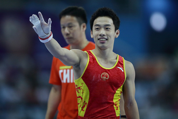 Zou Kai produced a dominant performance to win on the floor and claim one of three gymnastics titles for China ©Getty Images