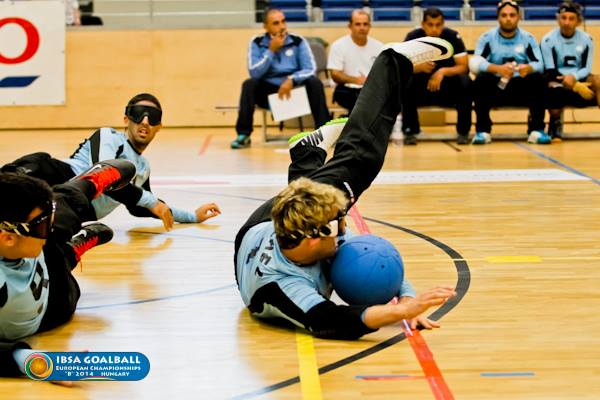 Israel have taken a commanding lead at the IBSA Goalball European Championships Men & Women B ©Kalocsai Richárd